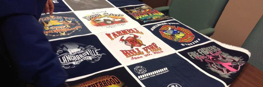 T-Shirt Quilt by Bev Lantrip